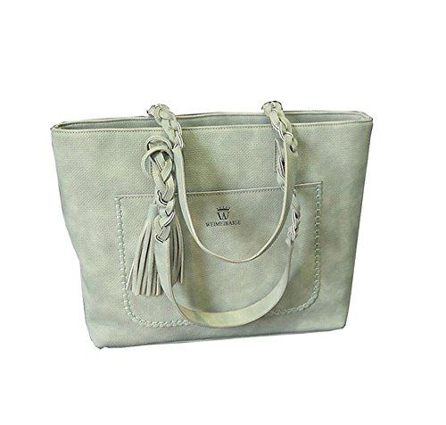 2017 Signore Casual Hobo Borse Semplice Nappa Shopping Bag Donna Tracolla Grande Capacità Verde
