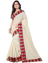 Aaradhya Fashion Women's Kalamkari Chanderi Cotton Saree