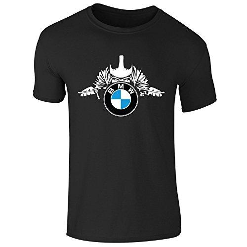 New Mens BMW Motorcycles Rider Racer Vintage T Shirt Top Graphic Tee (Medium) Black Bmw Motorrad
