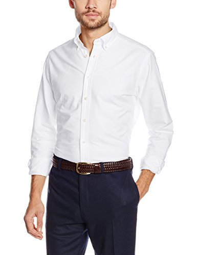 b424c8a1f20 Hackett Clothing Men's Washed Oxford Casual Shirt, (White), Large