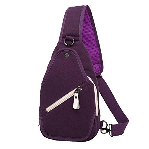 Yy.f Neue Segeltuchtasche Tasche Männer Brust Schulter Diagonal Paket Freizeit Brusttasche Einfaches Paket Gezeiten Segeltuchrucksack Bunte Taschen Brown