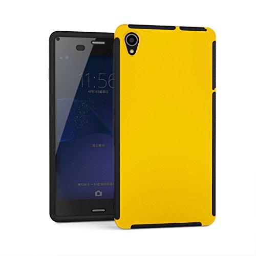 Z3 Hülle,EVERGREENBUYING Wasserresistent mit integriertem Bildschirmschutz L55U Tasche [Täglich Wasserdicht ] 3 austauschbare Abdeckungen / Zubehör Case Cover für Sony Xperia Z3 White Gelb