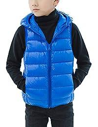 Chaleco con Capucha Niños Niñas Inviernos Sin Mangas Chaqueta Abrigo  Calienta Outwear 143be4288d8e