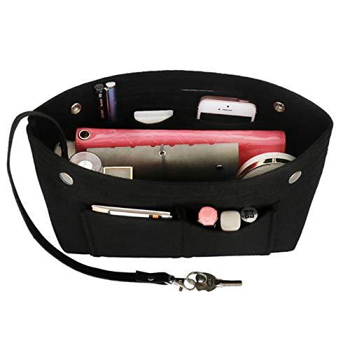 Taschenorganizer Filz, LV Taschen Organizer, Innentaschen für Handtaschen mit Griffen und Schlüsselkette, Handtaschen Organizer -