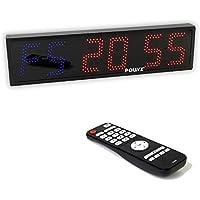 Sport Timer Board   Count-Down-Timer Zähler   Maße: 65 x 16 x 5 cm   6 Stellen LED mit Fernbedienung