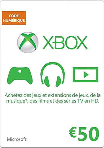 MICROSOFT MS ESD Gift Card Xbox LIVE AGENCY Online 50 E