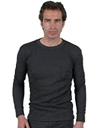 Mens Thermal Underwear Long Sleeve Interlock Vest Pack Of 4, Various Colours & Sizes