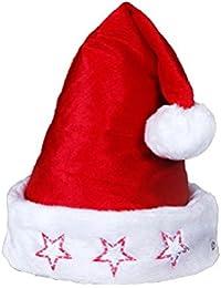 Weihnachtsmützen mit Licht LED Nikolausmützen blinkend
