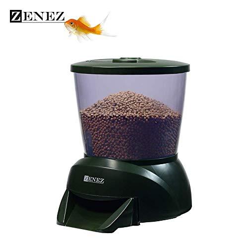 ZENEZ Distributeur Automatique de Nourriture étang 4.25L programmable LCD Calendrier Distributeur quantitatif de réservoir de Poissons