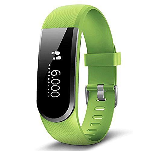 "Lcxligang Smart Bracelet, Bluetooth 4.0 Herzfrequenzmesser Fitness Activity Tracker 0.49\""Bildschirm Armband Walking Sleep Counter (Color : Green)"