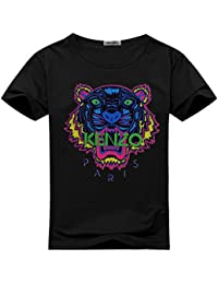 Pop KENZO Tiger Head For Men's T-shirt Tee Outlet