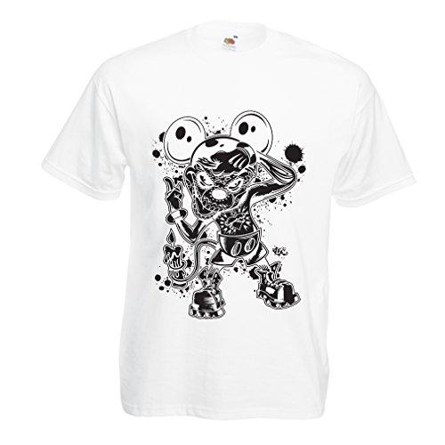 lepni.me Männer T-Shirt Eine Maus mit Einem tollen Halloween-Party-Kostüm (XXX-Large Weiß Mehrfarben) (Hole In One Halloween Kostüme)