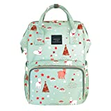 House of Quirk Baby Diaper Bag Red Maternity Backpack (Sheep Printed)