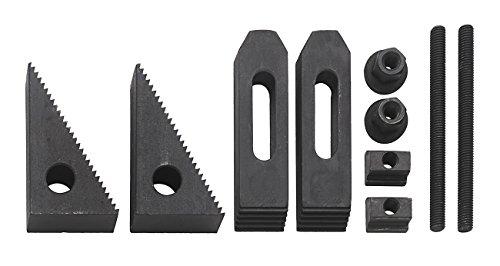 WABECO Spannpratzen Satz 10-teilig für T-Nutenbreite 10 mm Gewinde M8 T-Nutensteine Spanneisen Spannwerkzeug