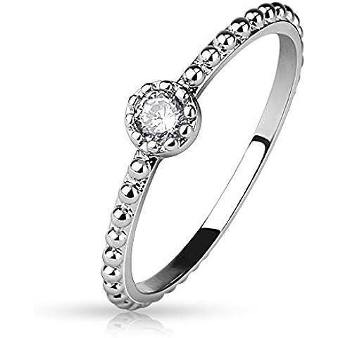 Anello da donna con cristallo argento (anello Donna timando partner anelli fidanzamento anelli Fido anelli mcdart rodio)