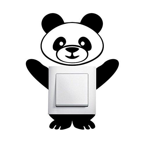 Preisvergleich Produktbild Panda Aufkleber Lichtschalter Aufkleber Deko Wandtattoo