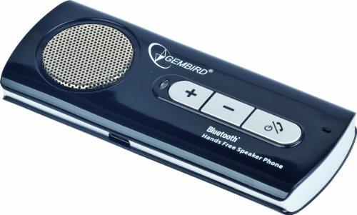 Gembird BTCC-002 Universal Bluetooth-Freisprecheinrichtung (Multipoint Dual Modus, Befestigung an Sonnenblende) schwarz