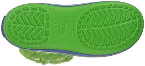 Crocs Puff 14613 Unisex - Kinder Schneestiefel Grün (Lime/Sea Blue)