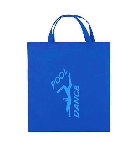 Comedy Bags - POOL DANCE - FIGUR - Jutebeutel - kurze Henkel - 38x42cm - Farbe: Schwarz / Silber Royalblau / Blau
