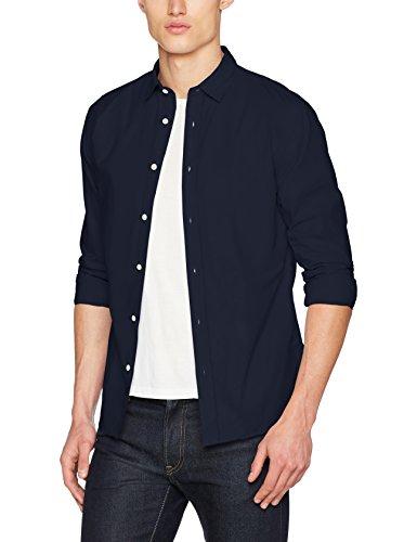 SELECTED HOMME Herren Freizeithemd Shhonemoonie Shirt LS NOOS, Blau (Navy Blazer), Small (Blazer Für Herren-navy Blau)