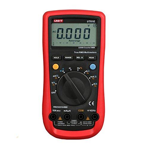 Topker Uni-T UT61E LCD multimetro Digitale AC/DC Tensione/Corrente di Misura di Resistenza di capacità Vero RMS Tester Strumento di misuratore