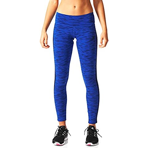 adidas ESS Tight Aop - Mallas para mujer, color azul / negro, talla S