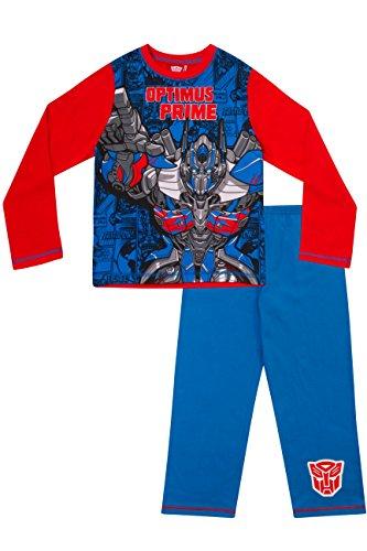 hlafanzug für Jungen, Motiv: Transformers, Optimus Prime Gr. 8-9 Jahre, blau (Transformers Bumblebee Schlafanzug)
