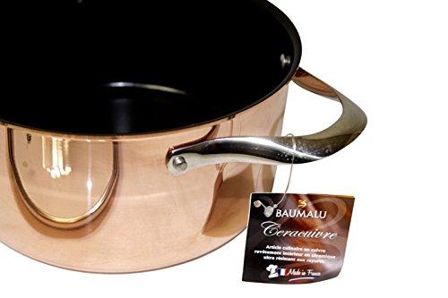 'Baumalu'- Sautoir en cuivre 22 cm avec revêtement céramique et couvercle