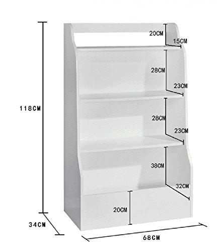 Estantería 68 * 34 * 118 Cm Estantería de Librería Blanca