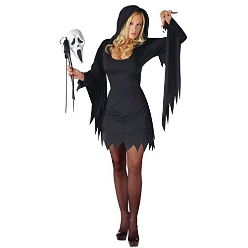 Ghost Face Female Adult Costume Ghost Face Women Adult Costume Halloween Size: Small / Medium (2-8) (japan (Face Womens Kostüm Ghost)