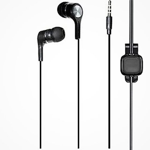 SUMMER SALE ! Metal Dot Bang 3.5mm Earphone with MIC, Clip Type One touch Button Compatible Samsung OnePlus Lenovo Xiaomi Motorola Asus Honor Intex Oppo Cool pad Gionee HTC Vivo Micromax data wind LeEco Lava LYF Spice Blackberry Infocus Mobile Power banks Mp3 Players Android Mobile Phone / Apple IPhone, IPad, IPod, windows series Mobile phones, Tablets, MP3 Players 7 Colours - EZ170-Black  available at amazon for Rs.200