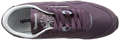 Reebok Cl Nylon Slim Hv, Sneakers Femme Gris (Meteorite/purple/white)