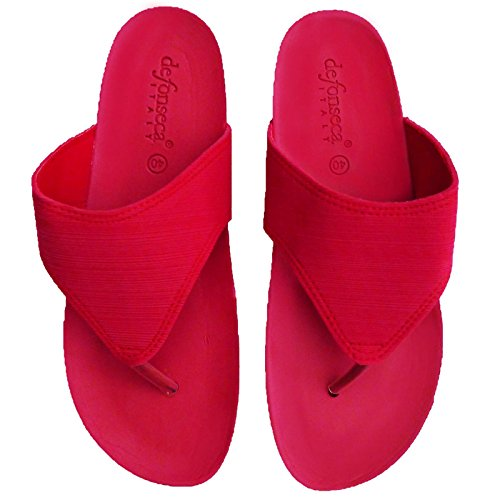 De Fonesca De In Multi donna Flip Flops con cuneo paragrafo Rosso
