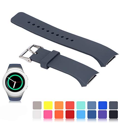 Für Samsung Gear S2 SM-R720/R730 Wiedereinbau UhrBand, iFeeker Zubehör Soft Silikon Armband Smartwatch Band für Samsung Galaxy Gear S2 SM-R720/SM-R730 (Tory Burch Damen Uhren)