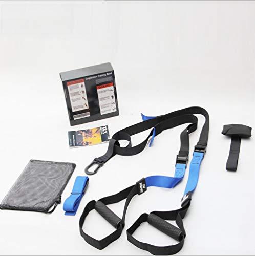 ZLQF Training – Suspension Trainer-Kit, Perfekt geeignet für unterwegs und für das Training im Innen- und Außenbereich,Blue,Regularversionm