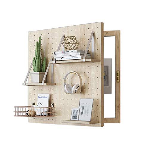 JCNFA Wandregale Zählerkasten Verteilerkasten Blockieren Dekorative Schachtel Massivholz Kleines Holeboard Wanddekoration Color 2 Farbe (Color : Wood Color, Size : 15.74 * 19.68in) - Weiß Birkenfurnier