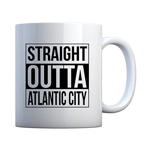 Indica Plateau Straight Outta Atlantic City en céramique Mug cadeau 11oz blanc nacré