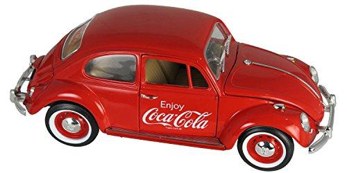 Motor City - 440033 - Véhicule Miniature - Modèle À L'échelle - Volkswagen Beetle - Coca Cola - 1962 - Echelle 1/18