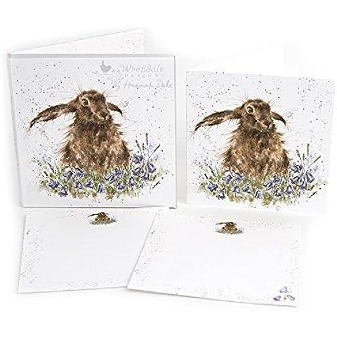 Wrendale Notecards (8274) Bright Eyes Lepre–Confezione di 12biglietti e buste