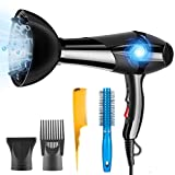 Hair Dryer Professional Ionic 3000W PluieSoleil with 2 Speed and 3 Heat Setting