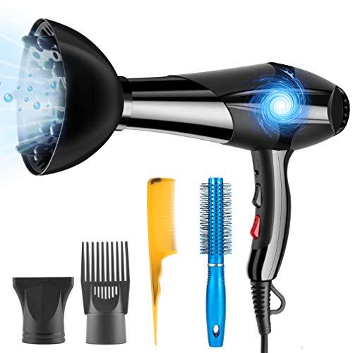 Haartrockner Ionen Professional 3000W mit Diffusor Watt Pluiesoleil Hair Dryer Ionic Fön für Salon und Familie mit 5 Zubehör