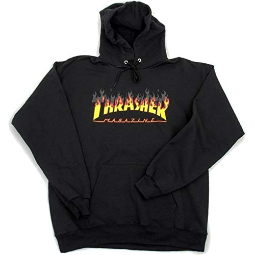 Thrasher BBQ Pullover Hood Black Medium/Black