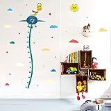 Demana Abnehmbare Wandaufkleber Kreative 3D Giraffe Höhenmessung Wachstum Chart Baum Kinderzimmer Wanddekorationen Kunstdekor Aufkleber