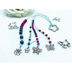Rechenkette Mädchen, Zählkette graublau pink, Rechenkette Name, Einschulung Geschenk, 1. Schultag Geschenk Mädchen
