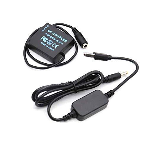 5V 8.4V USB Cable de Conducción + DMW DCC11 BLG10 BLE9 Batería Falsa Se Aplican A La Panasonic Lumix Digital Cameras GF5 GF6 GX7 GX80 GX85 GX86CGK GX7 Mark II ZS60
