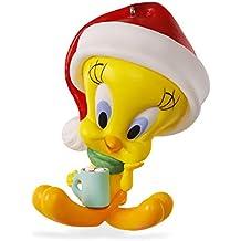 Hallmark–Tarjeta de Tweety–looney tunes adorno de Navidad caliente Cacao adorno para árbol de Navidad adorno