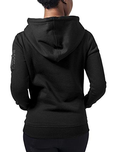 Urban Classics Damen Kapuzenpullover Ladies Bomber Hoody Schwarz (Black 7)