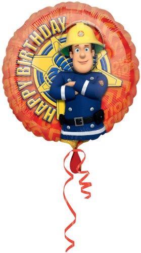 (Amscan Feuerwehrmann Sam 18Happy birthdayballoon)