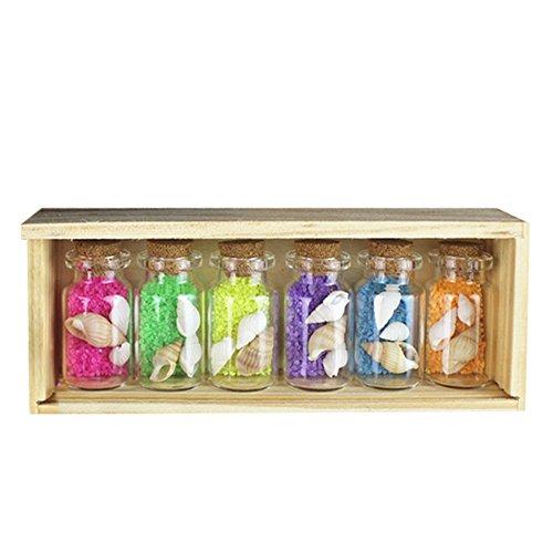 i Glas Wishing Flaschen mit Korkverschluss, Farbe Sand und Shell Enthalten ()