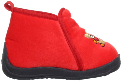 Playshoes Bärchen 204701, Chaussons mixte enfant Rouge (Rot 8)